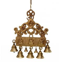 Wall Hanging With Bells Of Lakshmi Ganesh