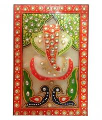Marble Wall Hanging with Ganpati (10170)