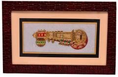 Marble tile painting of musicial instrument, framed to perfection, Handpainting with gold work (10570)
