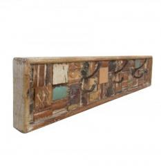 Distressed Finished Reclaimed Wooden Mosaic Hanger