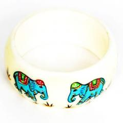 Hand painted Royal Plastic Bangle (bg04)
