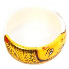Hand painted Royal Plastic Bangle (bg02)