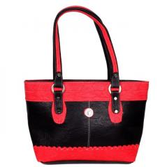 Women's Rich feel, high quality Purse Black & red (10252)