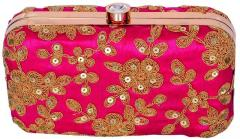 Omen's Clutch Purse with Traditional Indian Embroidery in Vibrant Colours to Carry Money, Cards, Mobile Phone (10346)
