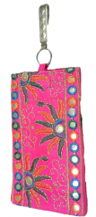 Traditional Women's Mobile Pouch, Pink color