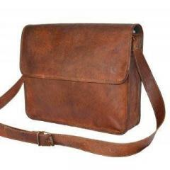 Messenger Bag (100% Authentic Leather) in Youthful