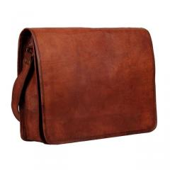 Leather Bag - Full Flap Shoulder Bag