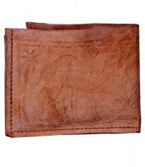 Leather Wallet (Purse) for men in Vintage brown Finish with Embossed Design (10313)