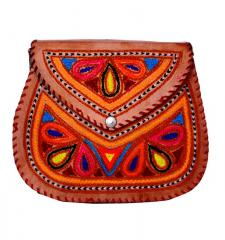 Leather sling purse for women/Girl