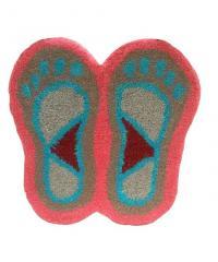 Foot Print Door Mat Light Brown color
