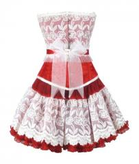 Authentic Steel Boned Valentince Overbust Corset Dress