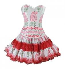 Steel Boned Cotton Corset Dress