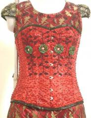 Fancy Sequined Overbust Corset