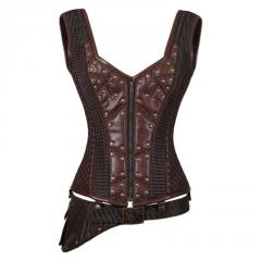Annemieke Steampunk Authentic Steel Boned Overbust Corset