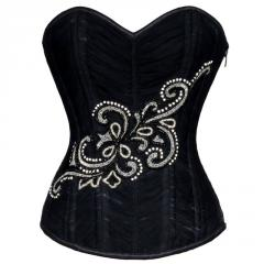 Hyacinth Gothic Authentic Steel Boned Overbust Corset