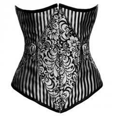 Jadwiga Underbust Gothic Black_Red Authentic Steel Boned Corset