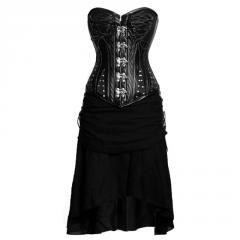 Aphrodite Gothic Authentic Steel Boned Overbust Corset Dress