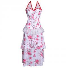 Autum Blossom Overbust Corset Dress