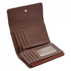 Tri Fold Leather Purse