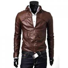Gents Slim Fit Leather Jacket