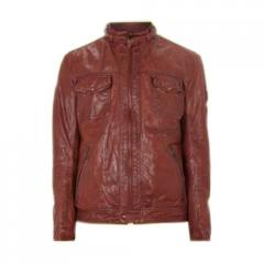 Full Neck Leather Jacket