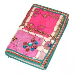 Indian Handmade Patchwork Embroidery paper Diary / Journal for Office(10215)