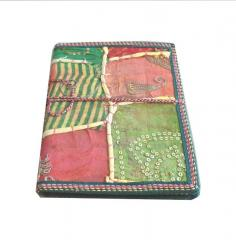 Indian Handmade Patchwork Embroidery paper Diary / Journal for Office(10216)