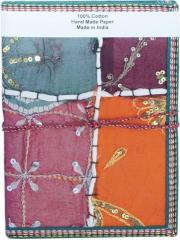 Indian Handmade Patchwork Embroidery paper Diary / Journal for Office(10409)