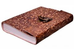 "Leather Journal""Nature's Music"": Naturally Treated Paper Encased In Leather Cover (10525)"