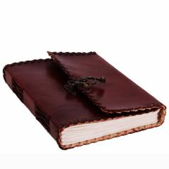 Leather Diary / Journal / Notebook with Handmade Paper for Corporate Gift or Personal Memoir (10153)