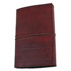 Leather Diary / Journal / Notebook for Corporate Gift or Personal Memoir - The Wisdom Tree, Bodhi (lj02)