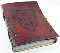 Leather Diary / Journal / Notebook for Corporate Gift or Personal Memoir: Heart-to-Heart (lj03)