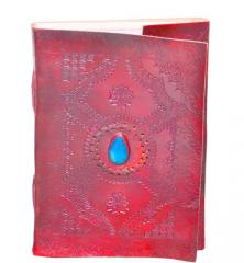 Leather Diary / Journal / Notebook with Handmade Paper and Double Lock for Corporate Gift or Personal Memoir: Ancient Stone