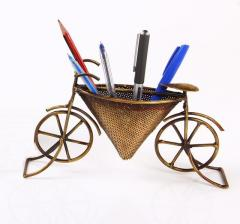 Metallic Cycle shaped visiting cards & pen holder (pnh08)