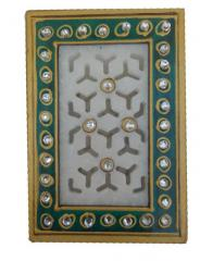 Marble Pen Holder / Stationery holder with intricate cutwork design (10577)