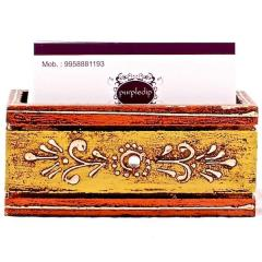 Painted wooden Visiting card holder
