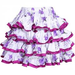 Autum Cotton Frilled Purple Skirt