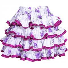Autum Cotton Frilled Purple Skirt
