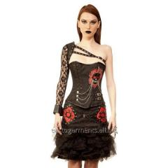 Bohdanko Gothic Authentic Steel Boned Overbust Corset Dress