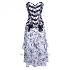Dark Blossom Overbust Corset Dress
