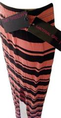 Light Peach Knit Skirt With Slit
