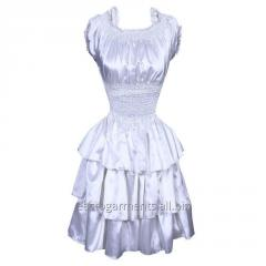 Angiola White Burlesque Dress