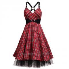 Mirabilis Kneelength Rockabilly Dress