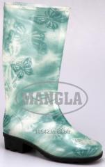 Mercury Green Flower Boot