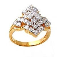 Ladies Gold Diamond Rings