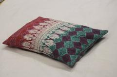 Africana Printed White Embroidered Pillow