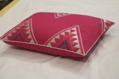 Red Color Embroidered Pillow