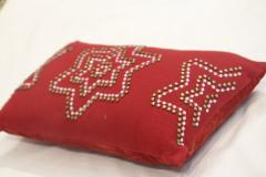 Christmas Beaded Red Pillows