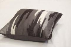 Charcoal Grey Embroidered Pillows