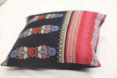 Embroidered Black red Cushion